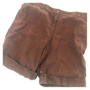 EUC Style & Co brown shorts size 14